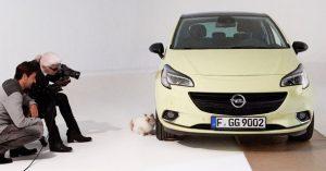 Opel Corsa, Karl Lagerfeld i supermodel Šupet iza kulisa