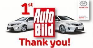 Po treći put zaredom Toyota je na prvom mestu 2014. AutoBild izveštaja o kvalitetu