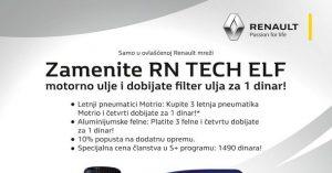 Velika prolećna akcija u Renault servisima