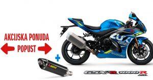 Novogodišnji popust za Suzuki motocikle Uz dva modela i poklon – izduvni sistem Akrapovič