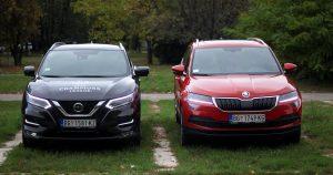 Garaža uporedni test: Nissan Qashqai 1.3 DIG-T DCT 160 vs Škoda Karoq 1.5 TSI DSG7 150