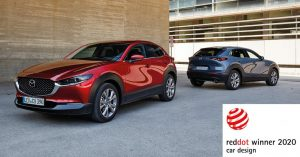 Nove Mazde CX-30 i MX-30  osvojile Red Dot nagradu za dizajn 2020