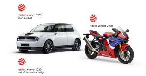 "Honda osvojila tri  Red Dot nagrade za dizajn, uključujući i ""Best of the Best 2020"" za Hondu E"
