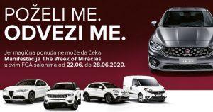 Nedelja čuda – The Week of Miracles od 22. do 28. juna u svim dilerstvima kompanije FCA Srbija
