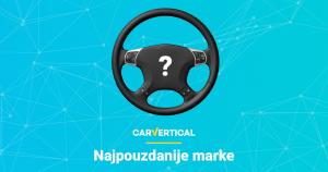 Najpouzdanije marke vozila po carVertical aplikaciji