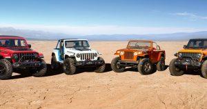 Debi ultra-sposobnih koncept vozila u izradi brendova Jeep® i Jeep Performance Parts za uskršnji Jeep Safari 2021.