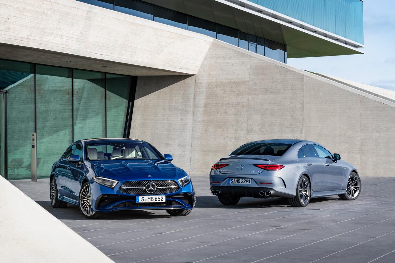 Mercedes-Benz und Mercedes-AMG CLS 53 4MATIC+ (Kraftstoffverbrauch kombiniert 9,0-8,7 l/100 km; CO2-Emissionen kombiniert 206-199 g/km);Kraftstoffverbrauch kombiniert 9,0-8,7 l/100 km; CO2-Emissionen kombiniert 206-199 g/km*<br /> Mercedes-Benz and Mercedes-AMG CLS 53 4MATIC+ (combined fuel consumption 9,0-8,7 l/100 km; combined CO2 emissions 206-199 g/km);combined fuel consumption 9,0-8,7 l/100 km; combined CO2 emissions 206-199 g/km*