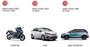Honda osvojila 2021. Red Dot nagrade za modele Jazz i Jazz Crosstar kao i Forza 750 skuter