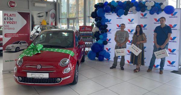 Valvoline i Auto kuća Kole – Zemun uručili Fiat 500 Hybrid Dolcevita srećnom dobitniku