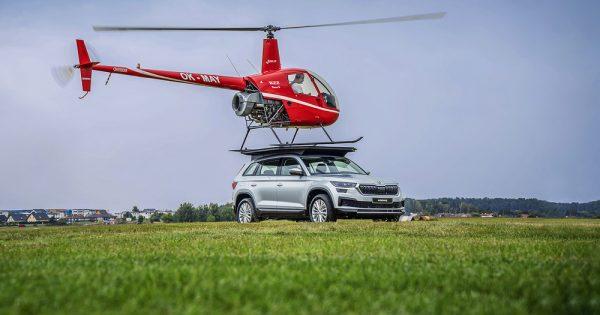KODIAQ sa helikopterom na krovu
